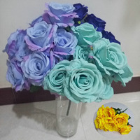 Artificial wedding table flowers rose bouquet flower for decoration