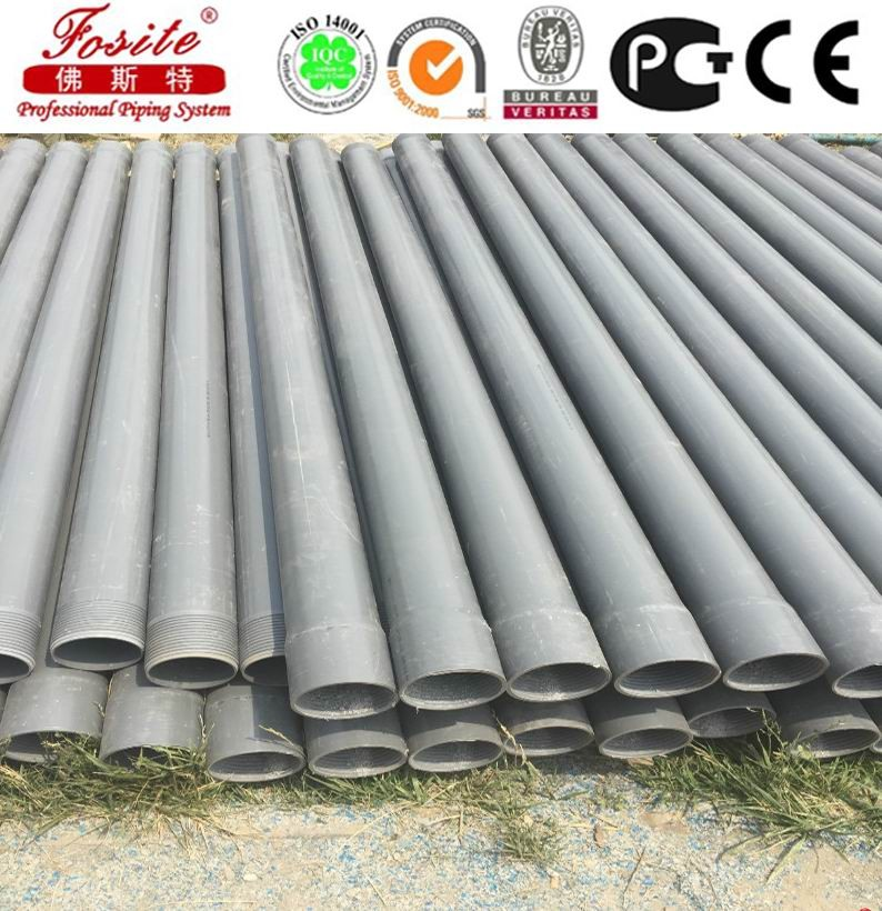 Deep well pvc casing pipes and water screens