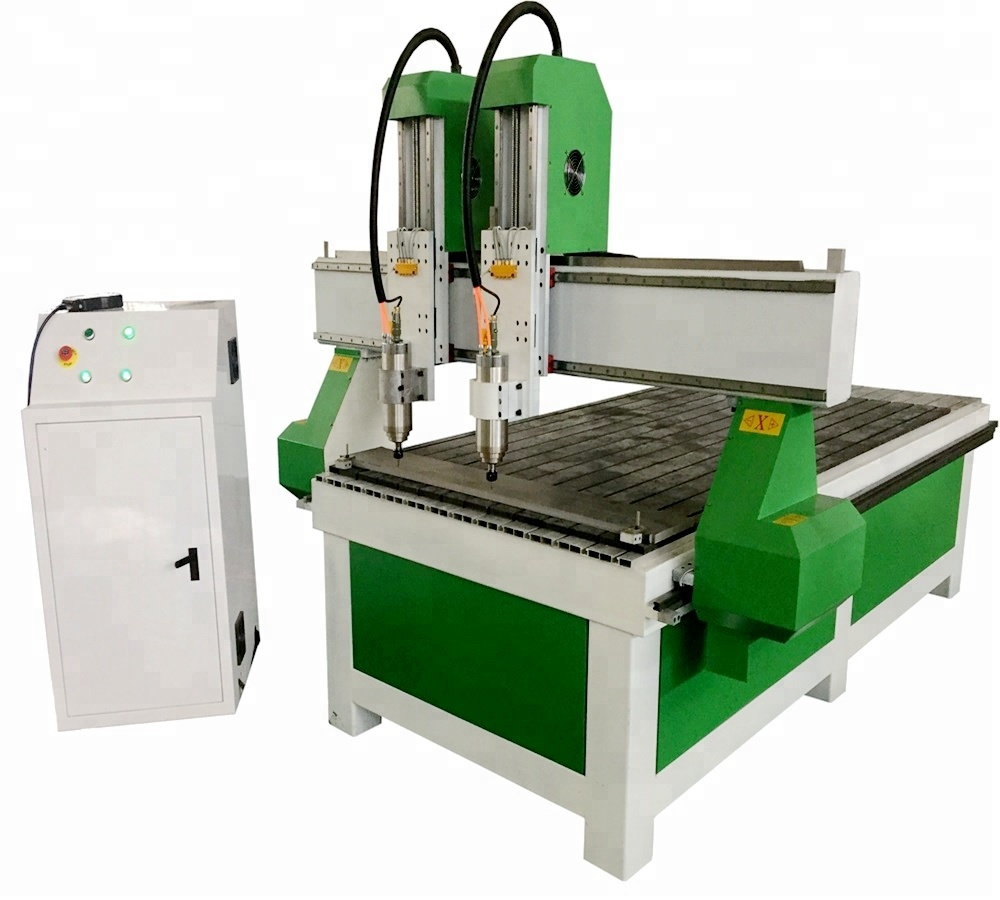 Ready in Stock!CA-1325 Double Spindles Woodworking <strong>CNC</strong> Router machine/hot sale DSP Controller Router <strong>CNC</strong>