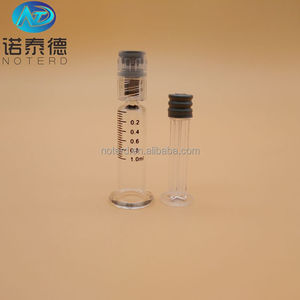 Pre-filled sterile luer lock 1ml standard cbd oil glass syringe manufacturer
