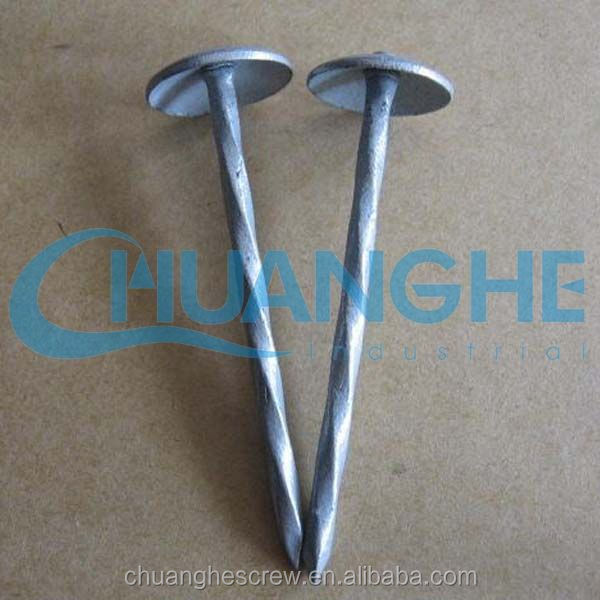 galvanized umbrella roofing nails with plain shank 2-1/2""