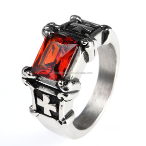 Wholesale stainless steel ring men thread zircon stainless steel ring