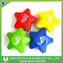 Promotional Gift Cheap PU Star Stress Toy with Customized Logo