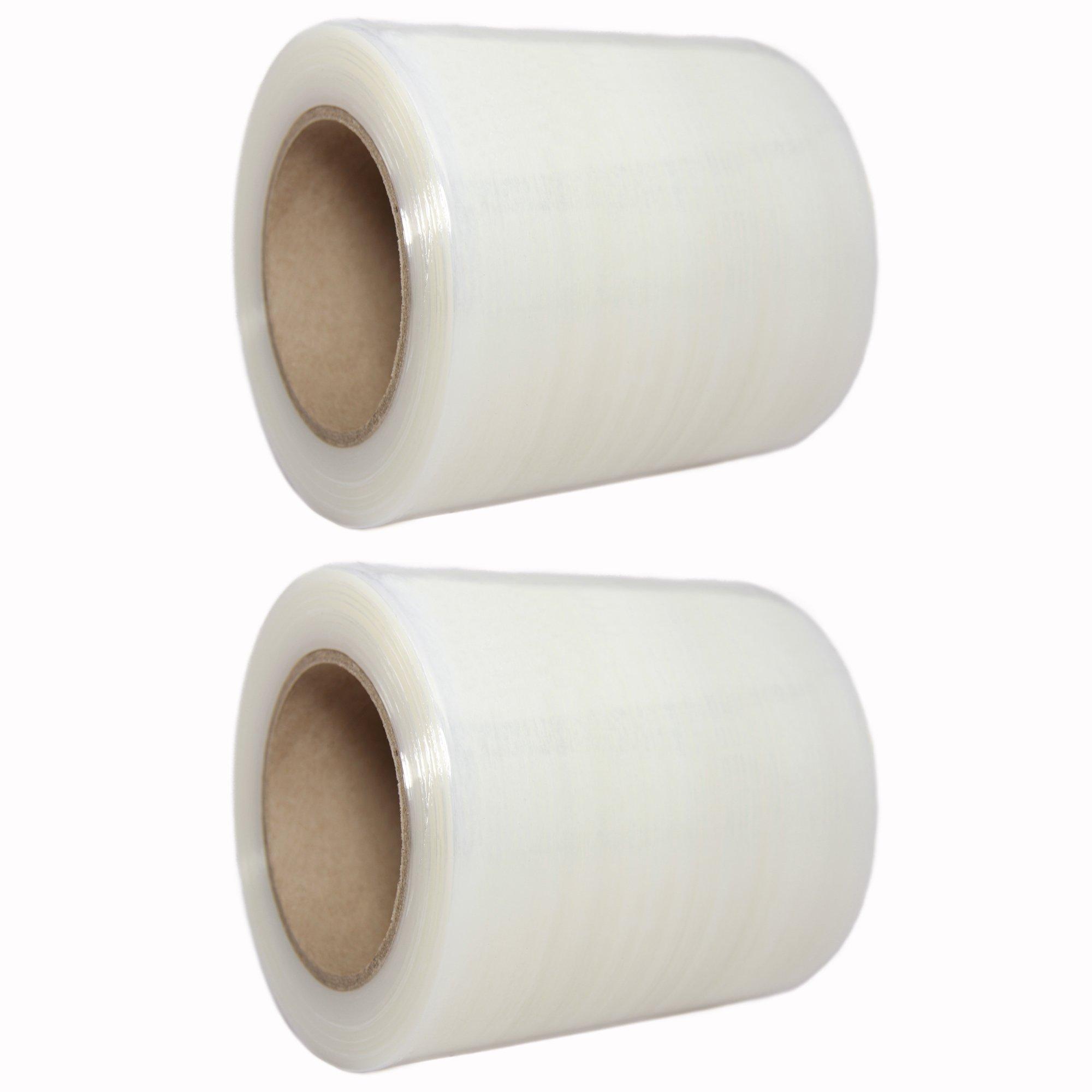 "TotalPack Shrink Mini Wrap: Stretch Film Plastic Wrap 2 Pack - Industrial Strength Hand Stretch Wrap, 5"" x 1,000 FT, 80 Gauge Shrink Film / Pallet Wrap"