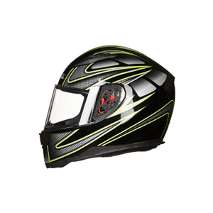 China new green ABS material motorcycle helmet full face scooter helmets 2019