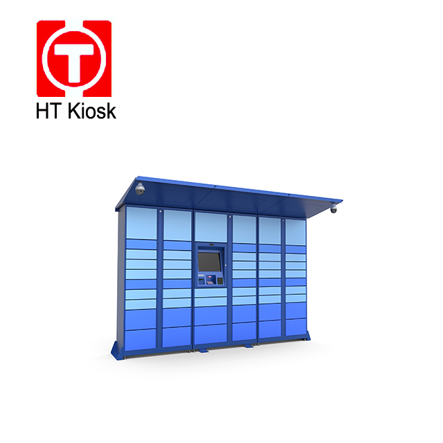 Postal self service terminal kiosk locker pick up and delivery package