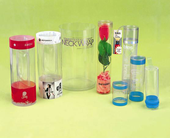 Delicate Clear PVC/PET Plastic Tube,eco-friendly material,High quality
