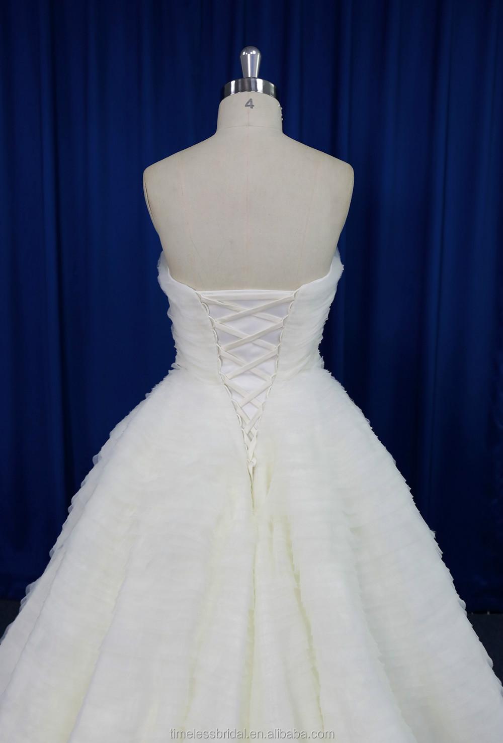 Fancy Boob Tube Top Frilled Organza Layers Ball Gown Wedding Dress 2016 New Design Buy Wedding Dress Wedding Dress 2016 New Design Organza Wedding