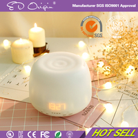 Any Direction Ceramic Mist Air Freshener Essential Oils Aromatherapy Electric Diffuser With Alarm Clock