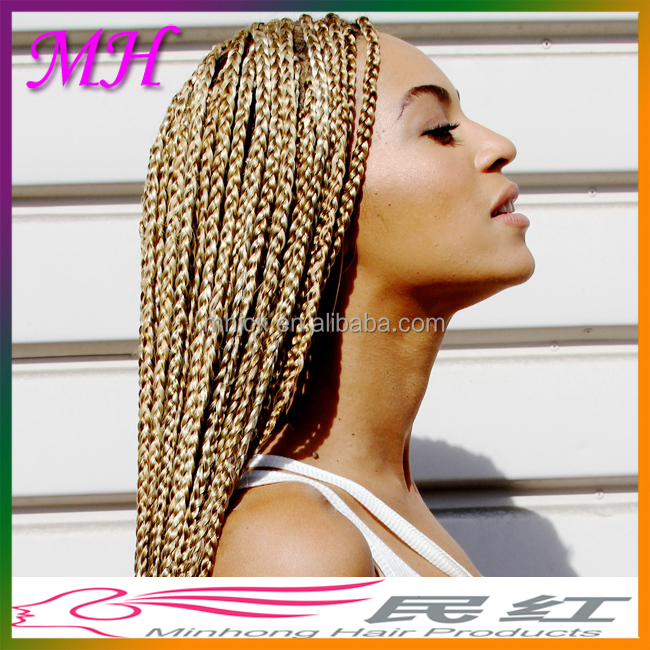 Wholesale Crochet Braid Hair Synthetic Braiding Hair Blonde/Two Tone Colors Synthetic Hair Weave