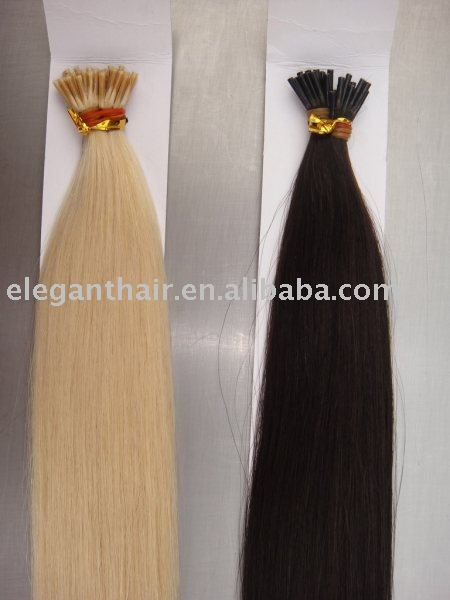 Super quality 1g/strand indian remy i tip hair extensions