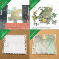 Promotional high quality 3D design cardboard paper jigsaw puzzle