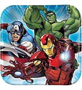 Avengers Plate (S) 8ct [Contains 5 Manufacturer Retail Unit(s) Per Amazon Combined Package Sales Unit] - SKU# 541354