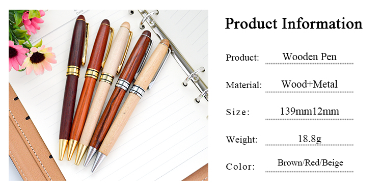 Customized Design Cheap Ballpoint Wood Pen With Laser Engrave Logo