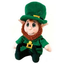 "Custom 8"" high lucky Leprechaun plush stuffed doll toy"