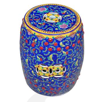 Blue Famille Rose Ceramic Garden Stool Buy Blue Garden Seat