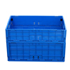 600*500mm foldable plastic crate with lid plastic collapsing folding crate