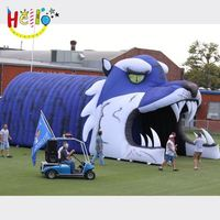 Customized inflatable mascot football tunnel/inflatable helmet without tunnel