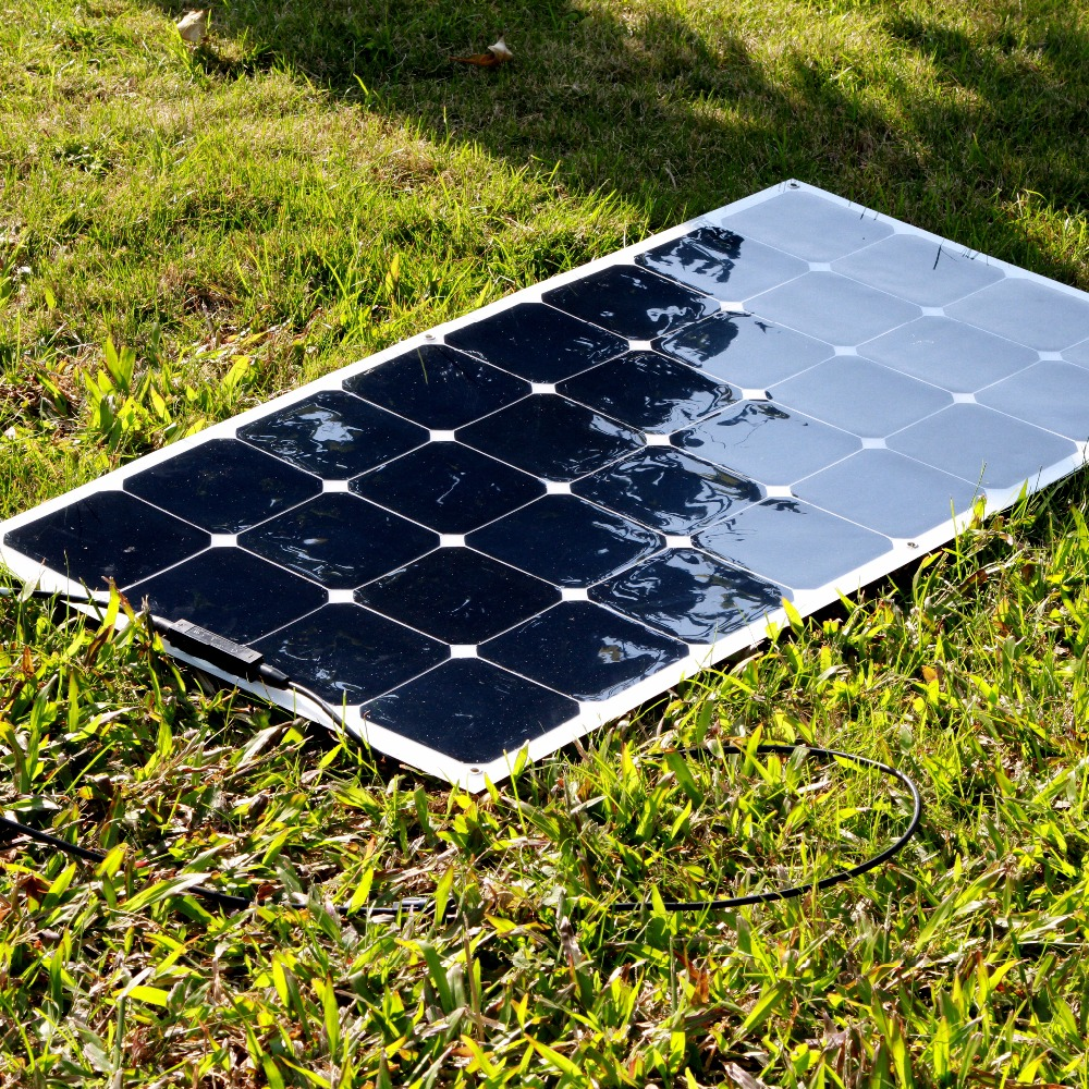 100w High Efficiency Semi Flexible Solar Panels Sunpower