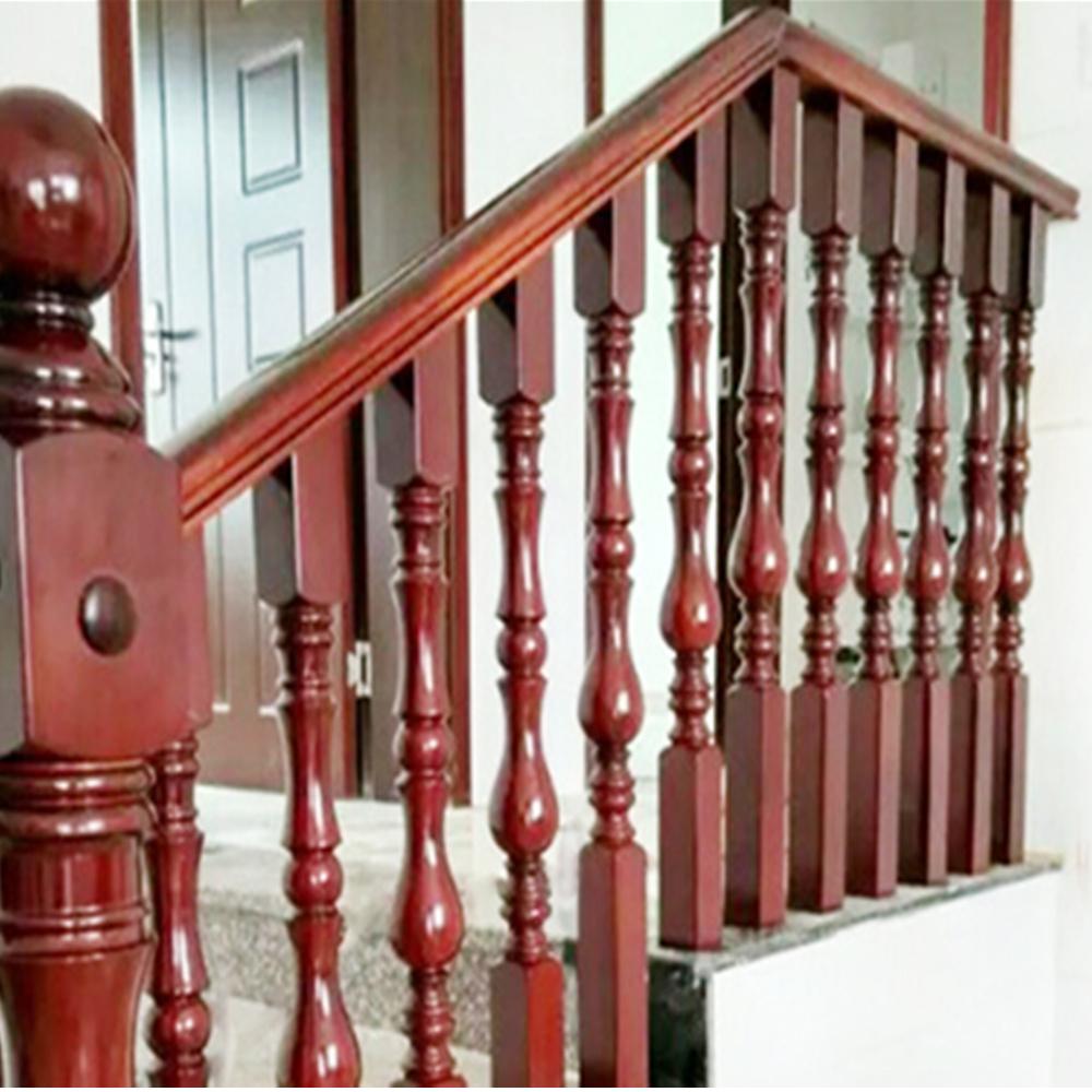 Philippines Customized Exterior Wood Stair Railing Design