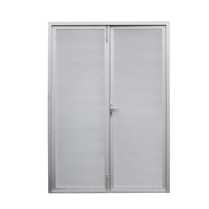 Aluminium thin frame stainless steel security hinged door double open china supplier