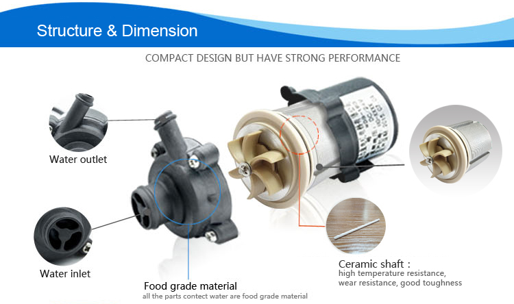 Top Performance Small Size Pump Electric Brushless Pumps
