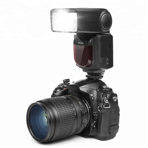 SHOOT Professional Photography Camera Flash Speedlite XT-670 with LCD Display Screen for Canon Nikon DSLR Camera