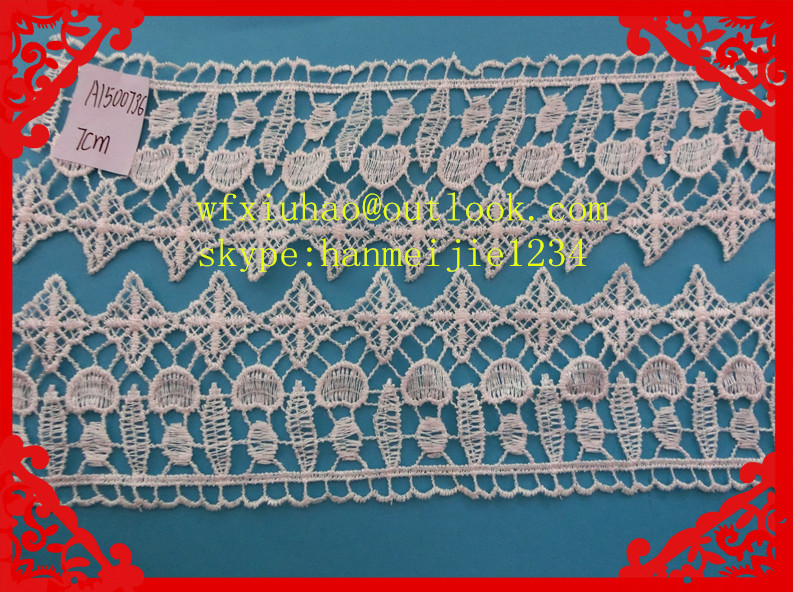 7cm fantanstic embroidered lace for sarees border wholesale