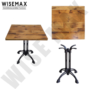 Restaurant table furniture Antique style solid oak wood 40mm thickness dining table top for restaurant