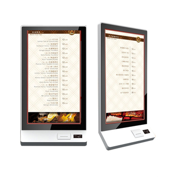 32inch OEM lcd touch screen self service ordering kiosk with card reader/QR code Scanner/Thermal Printer