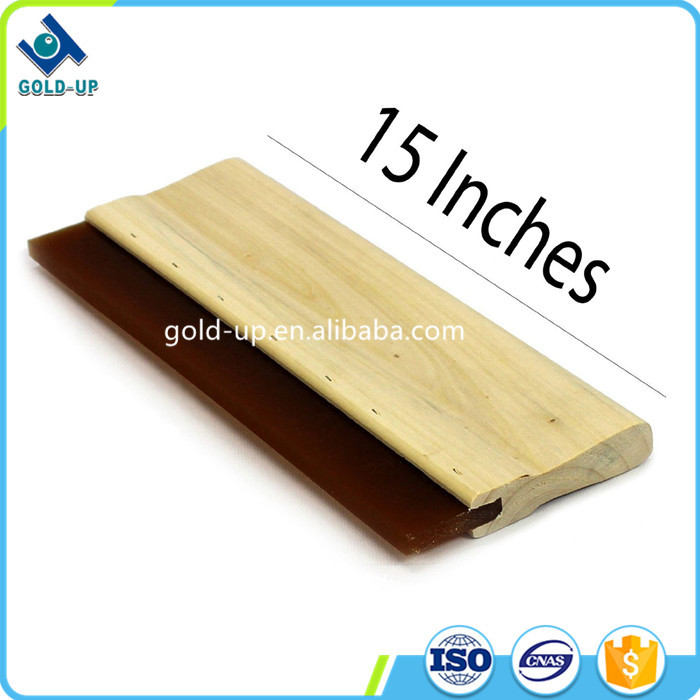 Hot selling screen printing t shirt wooden squeegee handles from shanghai gold-up