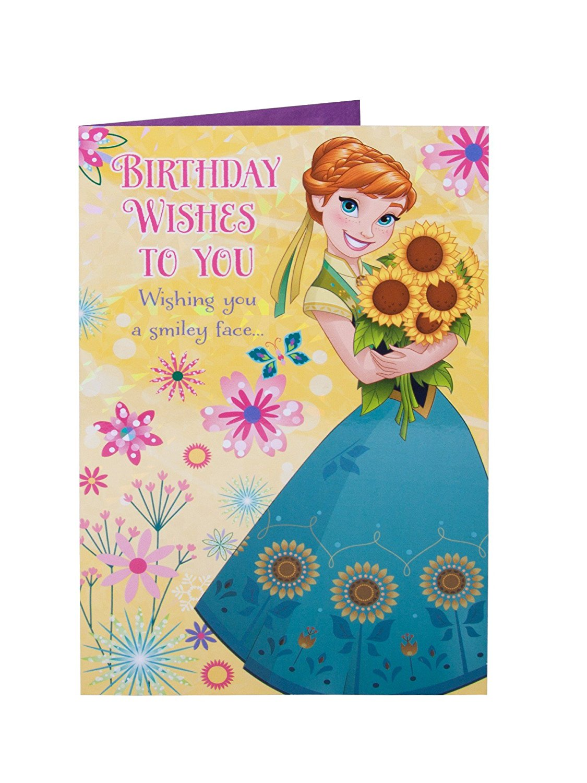 Buy Disney Frozen Granddaughter Birthday Greeting Card In Cheap