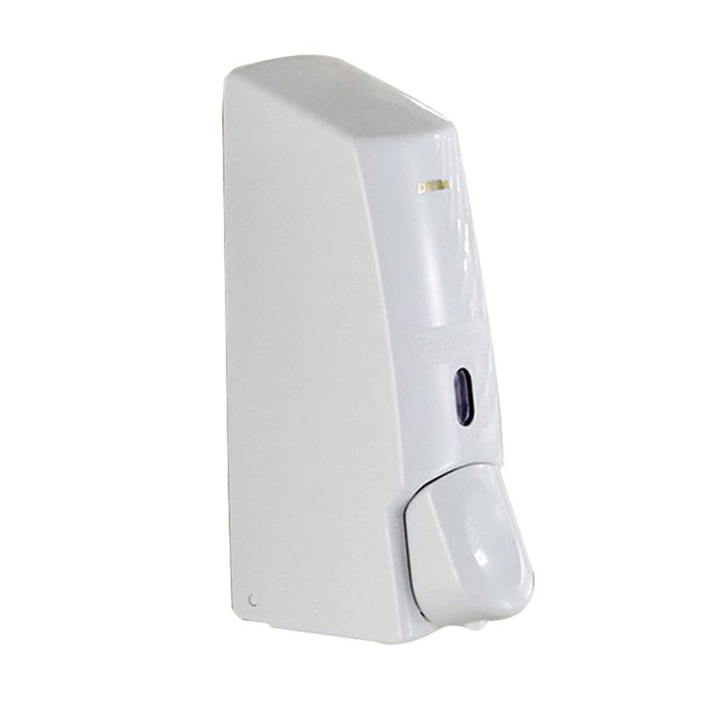 Soap dispenser, push-type soap dispenser hotel bathroom soap dispenser bathroom shower gel box wall-mounted plastic hand sanitizer bottle (Color : White, Size : 9.81323.5cm)