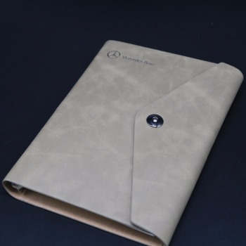 Wholesale grey folder cover custom printing journal