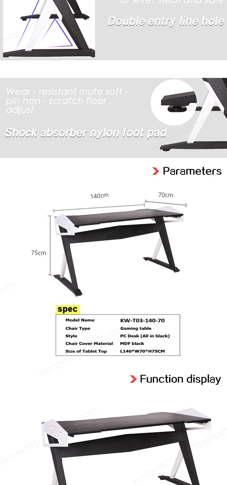 High quality wholesale manufacturer price modern pc gaming computer desk