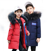 2018 new hooded children's down jacket girls long thick coat