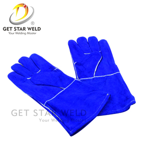 Double side Leather Welding Sleeve Heat Resistant Protective Gloves