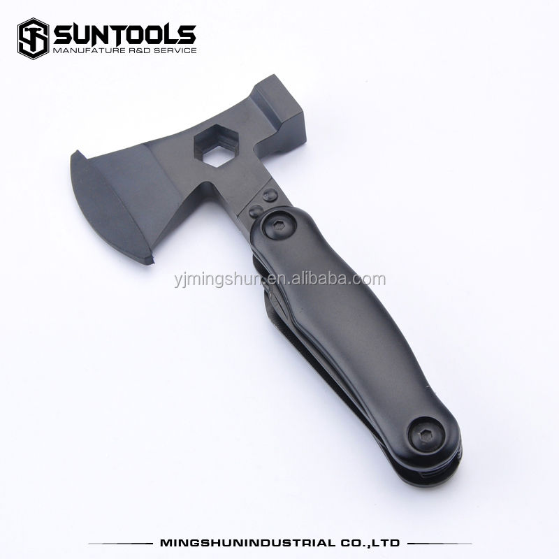 Hot selling black oxidation treatment multi function tool with axe and hammer