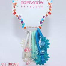 Fashion Model Various Color Beaded Elastic Flower Hair Band