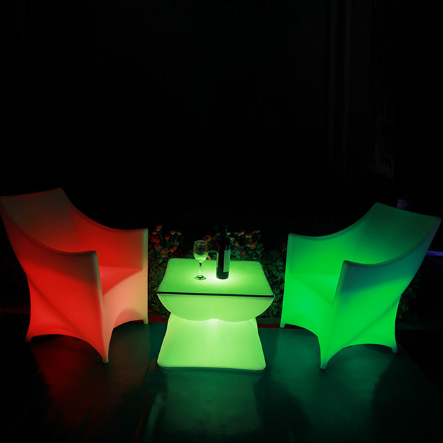 <strong>bar</strong> or night club color change led luminous study dining plastic chair light