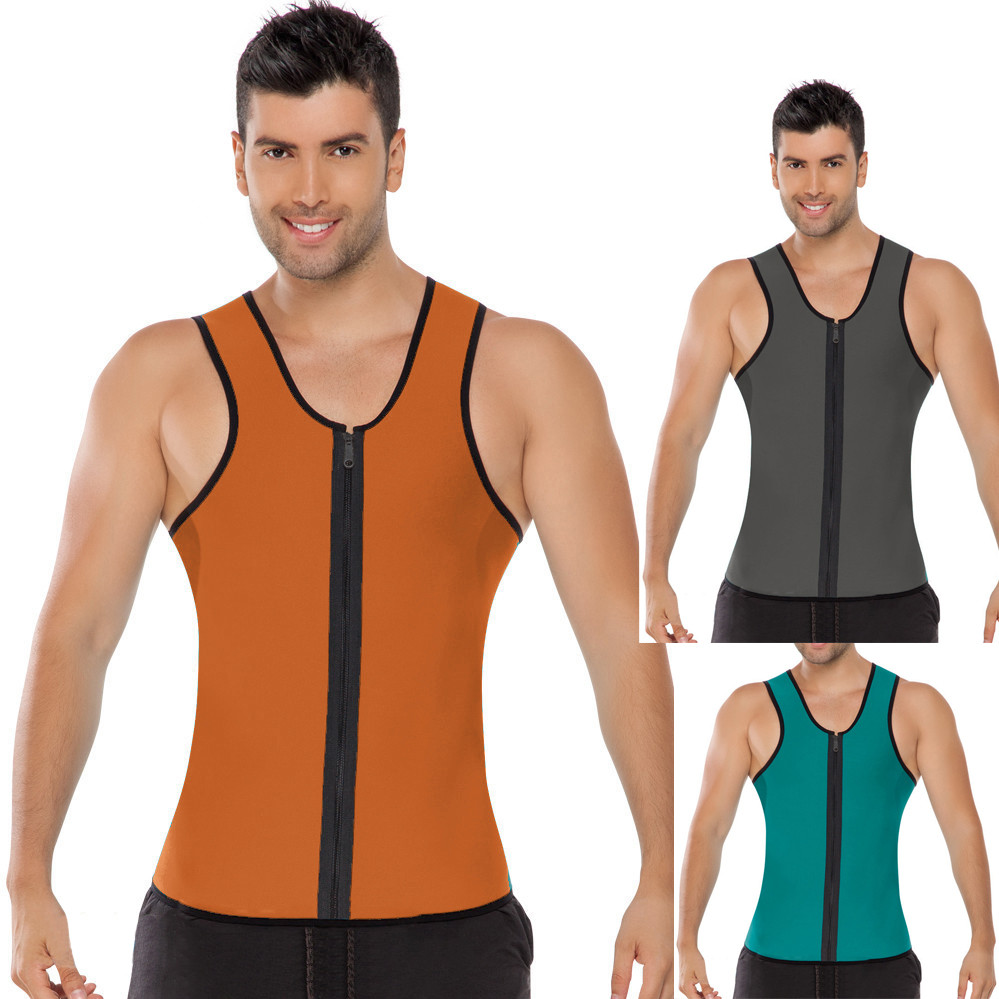 0e4db335e1e31 Neoprene Mens Slimming Waist Body Shaper Vest Shirt Original Men s  Compression Shirt Body Slimming Shapewear
