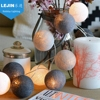 Christmas LED battery powered cotton ball fairy light for room wedding decoration