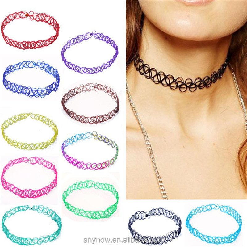 Tattoo Choker Necklace, Tattoo Choker Necklace Suppliers and Manufacturers  at Alibaba.com