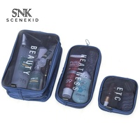 New High Quality PVC Toiletry Cosmetic Wash Bag Men Cosmetic Travel Bag Sets
