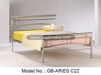 Goedkoop Metalen Bed.Goedkope Metalen Ronde Buis Thuis Bed Met Eenvoudige Ontwerpen