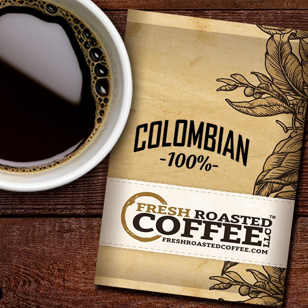 Colombian Coffee, 1.75 oz. Fractional Packages, Ground, Fresh Roasted Coffee LLC. (42 Portion Packs)