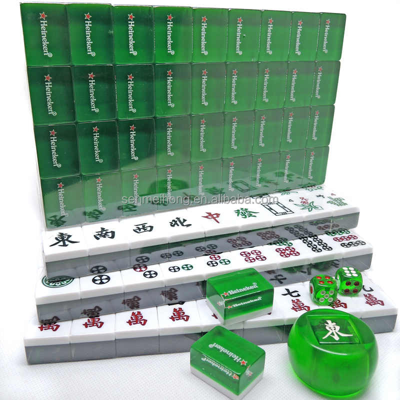 Custom Chinese Mahjong Manufacturer With Customized Logo Wooden Box