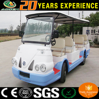 Chinese 14 seater cheap electric shuttle bus, sightseeng bus car