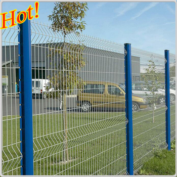 PVC welded wire mesh fence panels in 12 gauge ( 10 years factory)