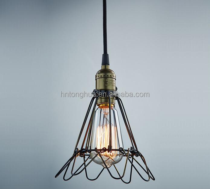 Bird Cage Shade Edison Light Bulb Pendant Lighting Antique Vintage ...